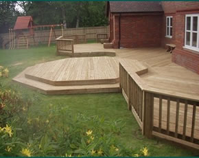 Joinery projects for Garden decking projects